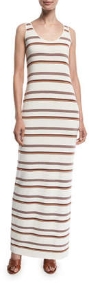 Loro Piana Palm Beach Long Knit Stripe Dress