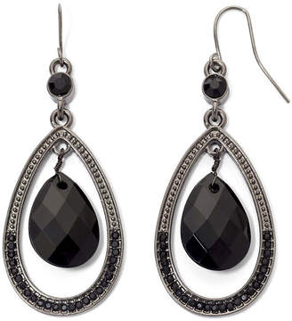 JCPenney MIXIT Mixit Black Faceted Teardrop Earrings