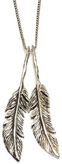 The Bearhead Factory Silver  Feather Necklace