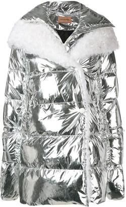 Yves Salomon hooded fur-trimmed coat