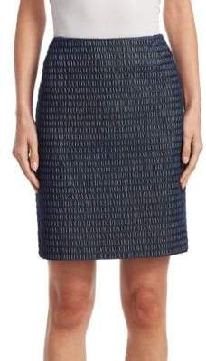 Akris Punto Jacquard Pencil Skirt