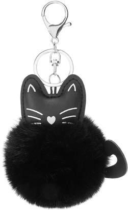 Shein Cat Detail Pom Pom Keychain