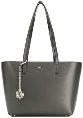 DKNY logo plaque tote bag