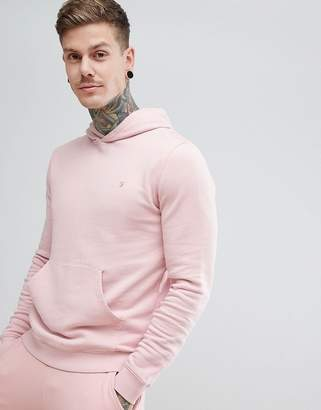 Farah Clerkenwell Slim Fit Hooded Sweat in Pink