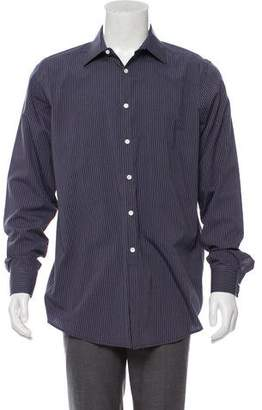 Theory Striped Woven Dress Shirt