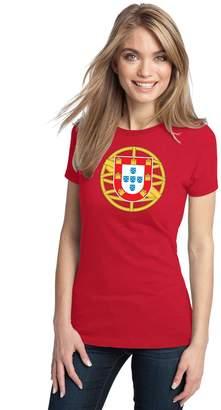 Co Ann Arbor T-shirt PORTUGUESE COAT OF ARMS Ladies' T-shirt / Portugal National Emblem, Flag
