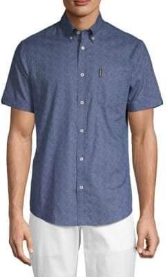 Ben Sherman Micro Daisy-Print Button-Down Shirt
