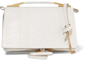 Stella McCartney Flo Python-effect Faux Leather Shoulder Bag - Ivory
