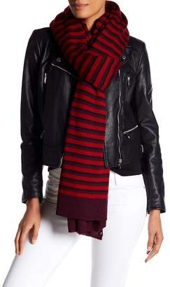 Rebecca Minkoff Striped Blanket Scarf $98 thestylecure.com