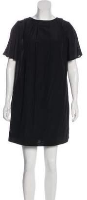 3.1 Phillip Lim Embroidered Neckline Short Sleeve Dress