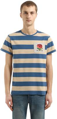 Kent & Curwen Gridlan Striped Cotton Chambray T-Shirt