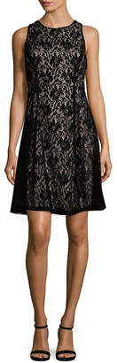Maggy London Velvet Lace A-Line Dress