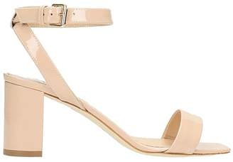 The Seller Nude Patent Leather Sandals