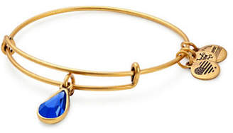 Alex and Ani September Birth Month Charm Bangle With Swarovski Sapphire Crystal