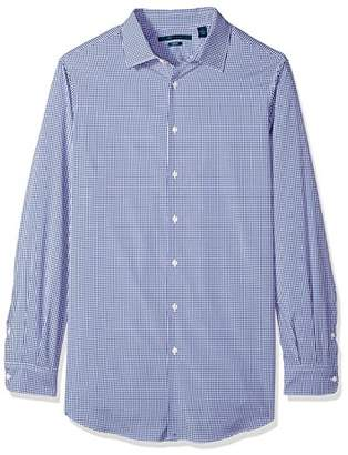 Perry Ellis Men's Big and Tall Mini Check Total Stretch Dress Shirt