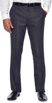 Jf J.Ferrar Gray Sheen Fine Stripe Slim Fit Stretch Suit Pants