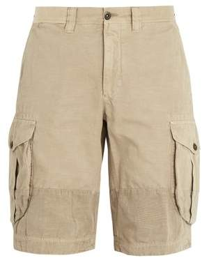 Incotex Mid Rise Straight Leg Cotton Cargo Shorts - Mens - Beige