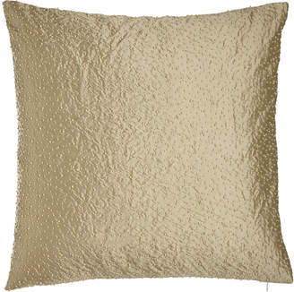 Marquis Austin Horn Classics European Reversible Silk Sham with Scattered Faux-Pearl Beads