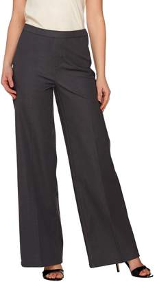 Halston H By H by Studio Stretch Pull-on Wide Leg Pants
