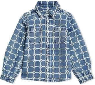 Burberry Flower Print Cotton Linen Shirt