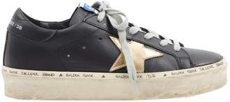 Golden Goose Hi Star Black Leather Trainers