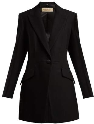 Burberry Cureton Virgin Wool Blend Blazer - Womens - Black