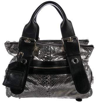 29b5323818c6 Chloé Metallic Python Shoulder Bag