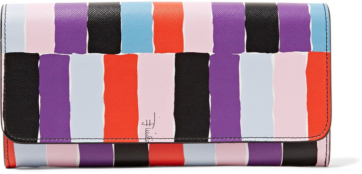 Emilio Pucci Emilio Pucci Printed textured-leather wallet