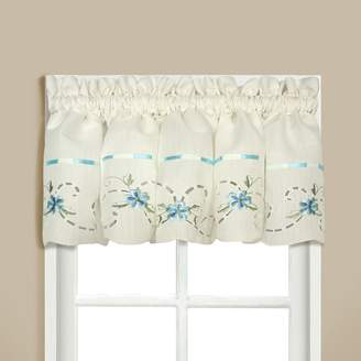 "Co United Curtain Rachael Embroidered Window Valance - 60"" x 12"""