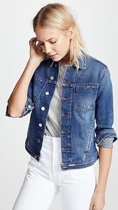 L'Agence Celine Slim Fit Distressed Jacket