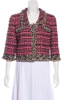 Oscar de la Renta Tweed Crop Jacket w/ Tags