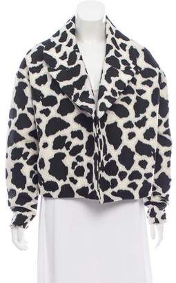Diane von Furstenberg Long Sleeve Printed Jacket