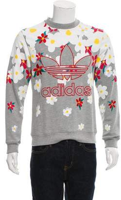 Pharrell Williams x Adidas Logo Floral Daisy Sweatshirt