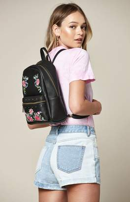 La Hearts Embroidered Backpack