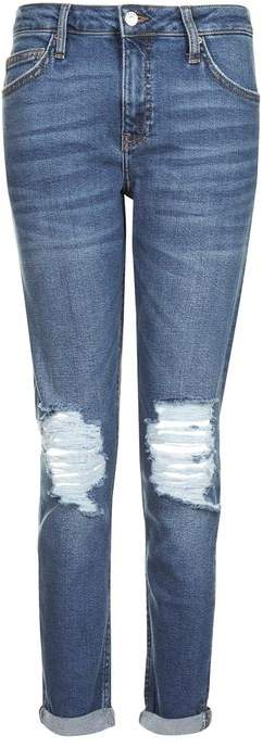 TopshopTopshop Moto dark blue ripped lucas jeans