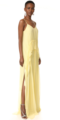 Elizabeth and James Catriona V Neck Gown $575 thestylecure.com