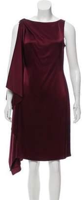 St. John Draped Satin Dress