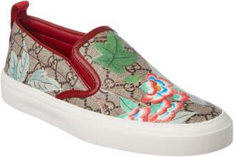 Gucci Gg Supreme Tian Canvas Slip-On Sneaker