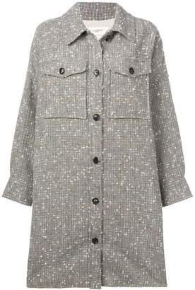 Etoile Isabel Marant oversized bobbled check coat