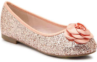 De Blossom Harper Toddler & Youth Ballet Flat -Rose Gold - Girl's