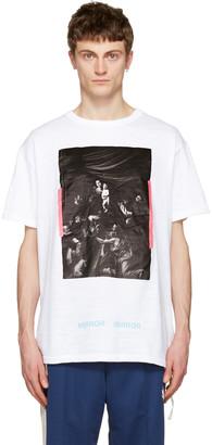 Off-White White Caravaggio T-Shirt $300 thestylecure.com