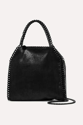 Stella McCartney The Falabella Mini Faux Brushed-leather Shoulder Bag - Black