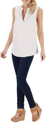 Mud Pie Sleeveless V Neck Blouse $39.95 thestylecure.com
