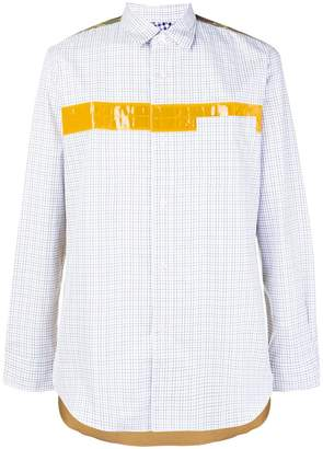 Junya Watanabe colour-block fitted shirt
