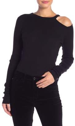 Equipment Adair Cutout Ribbed Crew Neck Sweater