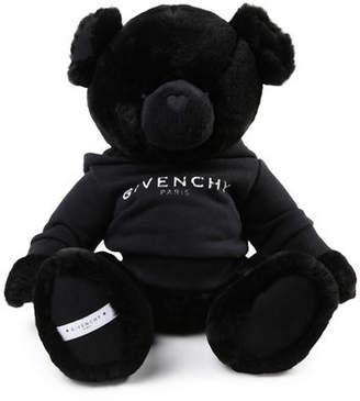 Givenchy Kids' Plush Teddy Bear Stuffed Animal w/ Logo Hoodie