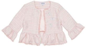 Flapdoodles Little Girls Tweed Jacket