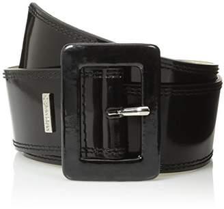 Calvin Klein Women's Patent Flat Contour Belt with Double-Stitched Edge