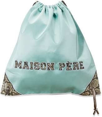 Maison Pere Satin drawstring bag