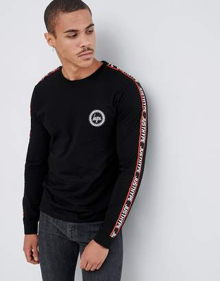 Hype long sleeve t-shirt with taped logo